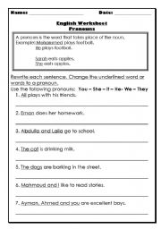 Printables Noun And Pronoun Worksheets worksheets nouns and pronouns worksheet laurenpsyk free english page 267 replacing with pronouns