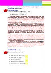 English Worksheets: MIDSUMMER NIGHTS BREAK-IN (1st Part)
