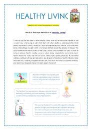 Worksheets Healthy Living Worksheets english teaching worksheets living room healthy living