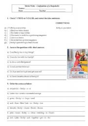 English Worksheet: Confessions of a shopaholic - moviework