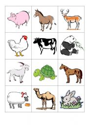 image relating to Animal Matching Game Printable identified as pets- memory recreation - ESL worksheet as a result of amals80rr