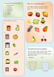 The fruits and vegetables
