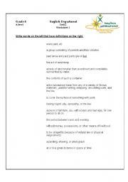 English Worksheets: list worksheet
