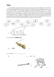 English Worksheet: Preposition Rebus
