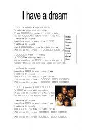 worksheet i have a dream abba lyrics english worksheet i have a dream abba lyrics