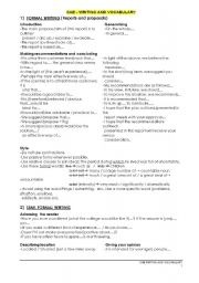 English Worksheet: CAE - Certificate in Advanced English - Writing guide