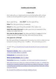 English Worksheets: devaking skillseloping writing and spe