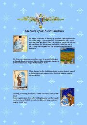English Worksheet: The Story of the First Christmas