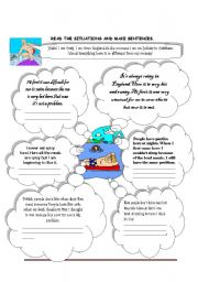 English Worksheet: get used to/be used to/ used to
