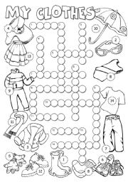 English Worksheets: My Clothes 2