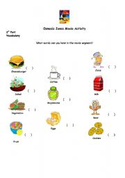 English worksheets: Osmosis Jones activity