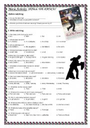English Worksheets: Movie Activity: Shall We Dance?