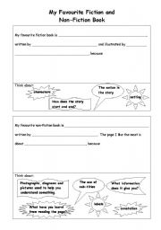 English Worksheets: Fiction and Non Fiction