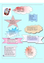English Worksheet: POEMS FOR CHRISTMAS