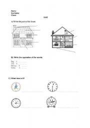 English Worksheets: Qu�z
