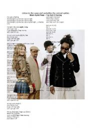 English Worksheet: TO BE (present simple), DAYS OF THE WEEK, POSSESSIVES, PERSONAL PRONOUNS -- multiple choice exercise - song: �I�VE GOT A FEELING� by BLACK EYED PEAS