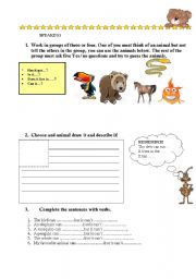 English Worksheets: ANIMALS PART TWO