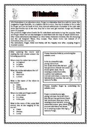 English Worksheets: 101 Dalmatians B/W