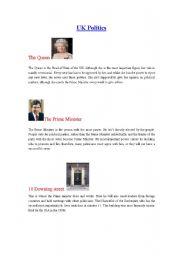 English Worksheet: UK Politics