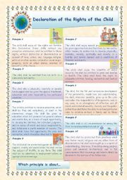 English Worksheets: CHILDREN�S RIGHTS DAY - NOVEMBER 20th