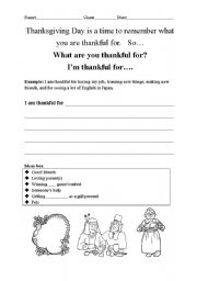 What are You Thankful For? Creative Thinking Activity | Classroom ...