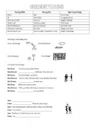 English Worksheets: Saying Hello