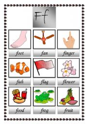 English Worksheets: my first picture dictioary (F)