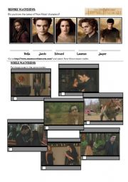 English Worksheet: New Moon trailer - Past Simple vs Past Continuous