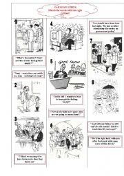 English Worksheets: CARTOON STRIPS