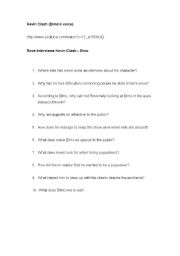 English Worksheets: Elmo interview