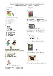 English Worksheets: 5 th grade 1.term 1 writing exam