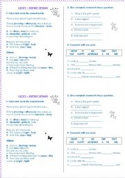 English Worksheet: Song: Lucky by Britney Spears - Different activities