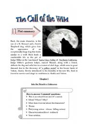 English Worksheets: the call of the wild (critical study guide)