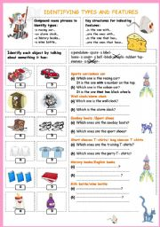 English Worksheets: Identifying types and features