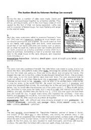 English Worksheets: Slave Auctions