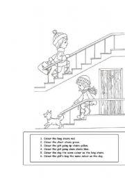 English Worksheets: long - short, up - down