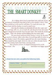 English Worksheets: The smart donkey