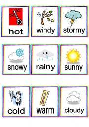 English worksheets: Weather flashcards