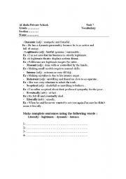 English Worksheets: voc