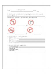 English worksheet: Imperative