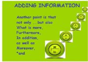 English Worksheets: Adding information