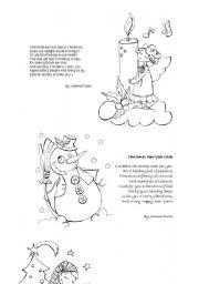 esl worksheets for adults christmas poems. Black Bedroom Furniture Sets. Home Design Ideas