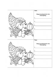 worksheet: I Am Thankful For Worksheets Thanksgiving Large Print ...