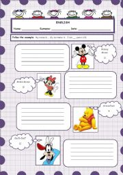 English Worksheets: What`s your name?/surname?/age?