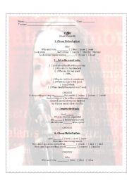 English Worksheet: Offer - Alanis Morissette