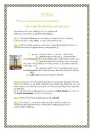 English Worksheets: Writing: LIFE IN 50 YEARS� TIME