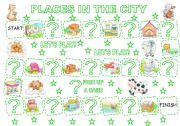 English Worksheet: PLACES IN THE CITY - BOARD GAME (1)