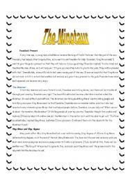 English Worksheets: The Minotaur