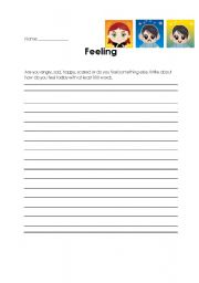 English Worksheets: How do you feel today?