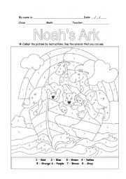 English Worksheets: Noah�s Ark - Part 2